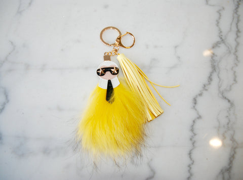 Charm K Fur Yellow
