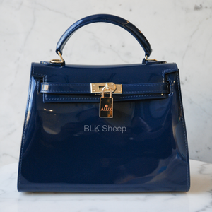 Blk Sheep BIKI 25 Matte beijing blue vegan jelly tote bag