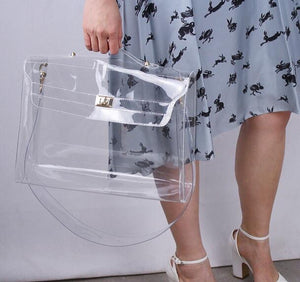 BLK Sheep BIKI 40 Transparent Clear Vegan Bag