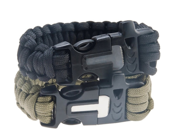 Paracord Bracelet with Flint