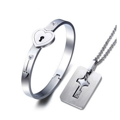 Key To Your Heart Necklace and Bracelet