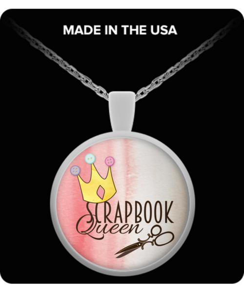 Scrapbook Queen Necklace Round