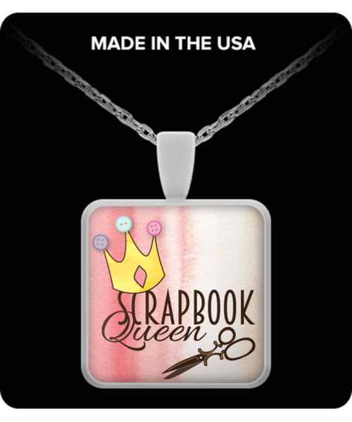 Scrapbook Queen Necklace Square