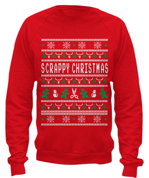 Scrabooking Ugly Sweater Style