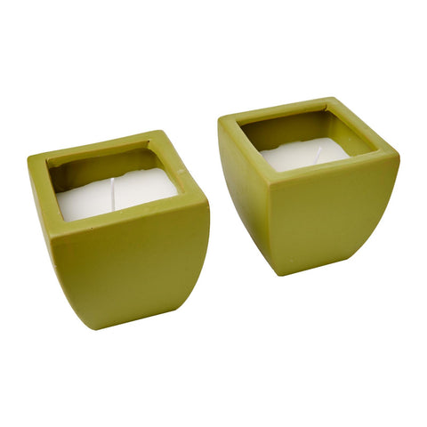WaxWorks Citronella Candles - Tuscan Pots - Green Candles