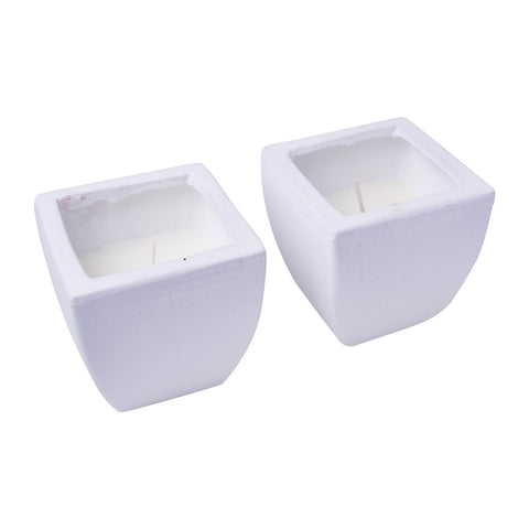 WaxWorks Citronella Candles - Tuscan Pots - White Candles