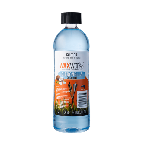 Waxworks Citronella Lamp & Torch Oil With Coconut 1L
