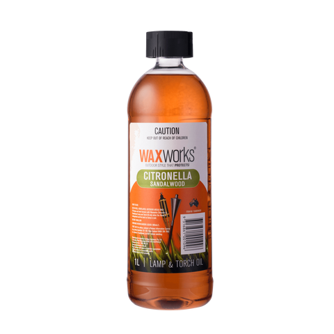 Waxworks Citronella Lamp & Torch Oil With Sandalwood 1L