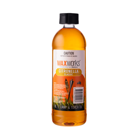 Waxworks Citronella Lamp & Torch Oil Classic 1L