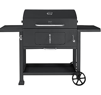 BBQ King Charcoal Grill with - adjustable fire pan