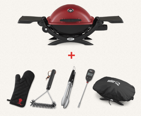 Weber Q 1250 - Starter Pack - Gas Canister Grill