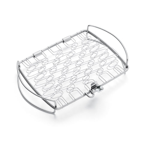 Weber, Stainless Steel Small Fish Basket - BBQ Warehouse