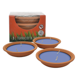 Waxworks Citronella Terracotta Dishes - Candles
