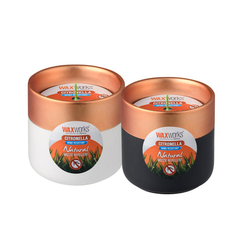 Waxworks Citronella Wind Resistant Copper Top Candle