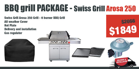 Swiss Grill Arosa 250 S/S - Gas Grill Package