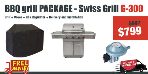Swiss Grill G300 - Package Deal - Gas Grill
