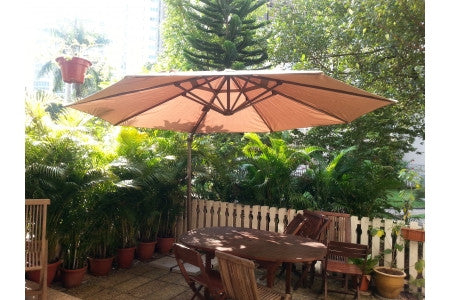 Umbrella with marble base - BBQ Warehouse - 1