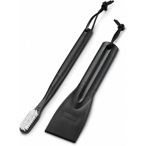 Weber, Upright Grill Maintenance Kit (Scraper and Burner Brush) - BBQ Warehouse
