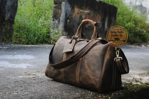 Crazy Horse Leather Duffel Bags