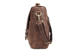 Classic Medium Brown Leather Messenger Bag - Gritty Rustic Leather Co.