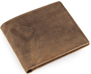 Minimal Tobacco Leather Long Wallet - Gritty Rustic Leather Co.