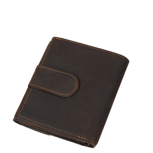 Classic Espresso Leather Short Wallet - Gritty Rustic Leather Co.