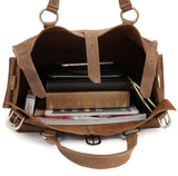Rugged Tan Leather Weekender - Gritty Rustic Leather Co.