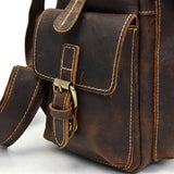 Vintage Mahogany Leather Backpack - Gritty Rustic Leather Co.