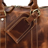 Minimal Russet Leather Weekender - Gritty Rustic Leather Co.