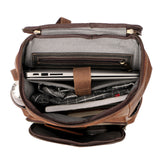 Rugged Brown Leather Rucksack - Gritty Rustic Leather Co.