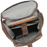 Mission Cognac Leather Rucksack - Gritty Rustic Leather Co.