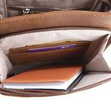 Minimal Russet Messenger Bag - Gritty Rustic Leather Co.