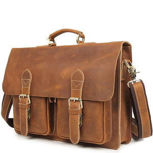 Classic buckwheat Leather Briefcase