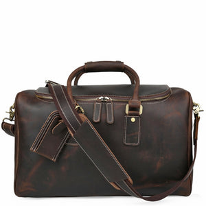 Espresso Crazy Horse Leather Travel Duffel