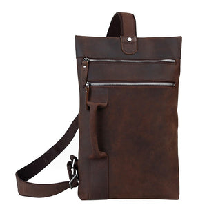 Fashionable Leather Crossbody Backpack Sling Bag