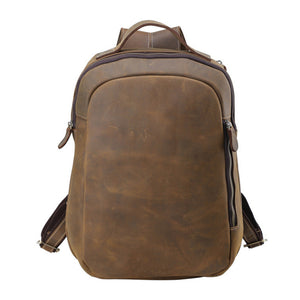 Minimal Oliver Buckskin Leather Backpack - Gritty Rustic Leather Co.