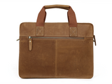 Rugged Gold Leather Briefcase - Gritty Rustic Leather Co.