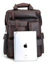 Rugged Tech Espresso Leather Backpack - Gritty Rustic Leather Co.