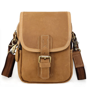 Rugged Buckwheat Compact Leather Sling Bag
