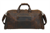 Rugged Mahogany Leather Weekender - Gritty Rustic Leather Co.