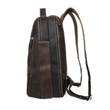 Minimal Oliver Espresso Leather Backpack - Gritty Rustic Leather Co.