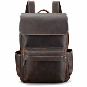 Minimal Jack Spade Espresso Leather Backpack - Gritty Rustic Leather Co.