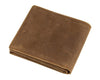 Minimal Tan Leather Short Wallet - Gritty Rustic Leather Co.