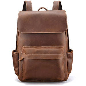 Minimal Jack Spade Whiskey Leather Backpack - Gritty Rustic Leather Co.