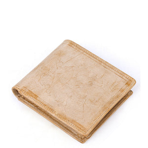 Minimal Natural Leather Short Wallet - Gritty Rustic Leather Co.