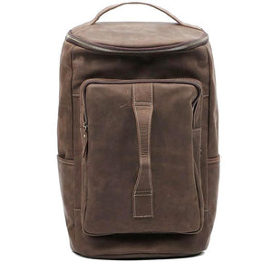 Mission Brown Leather Rucksack - Gritty Rustic Leather Co.