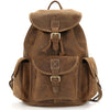 Vintage Crazy Horse Leather Oak Brown Backpack - Gritty Rustic Leather Co.