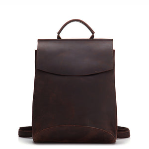 Minimal Espresso Leather Backpack - Gritty Rustic Leather Co.