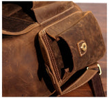 Classic Russet American Leather Backpack - Gritty Rustic Leather Co.