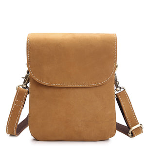 Rugged Buckskin Leather Belt Holster Sling Bag - Gritty Rustic Leather Co.